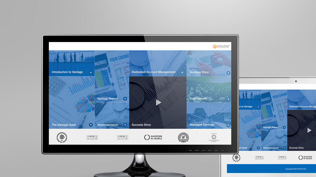 Interactive presentation design for managed services company 2