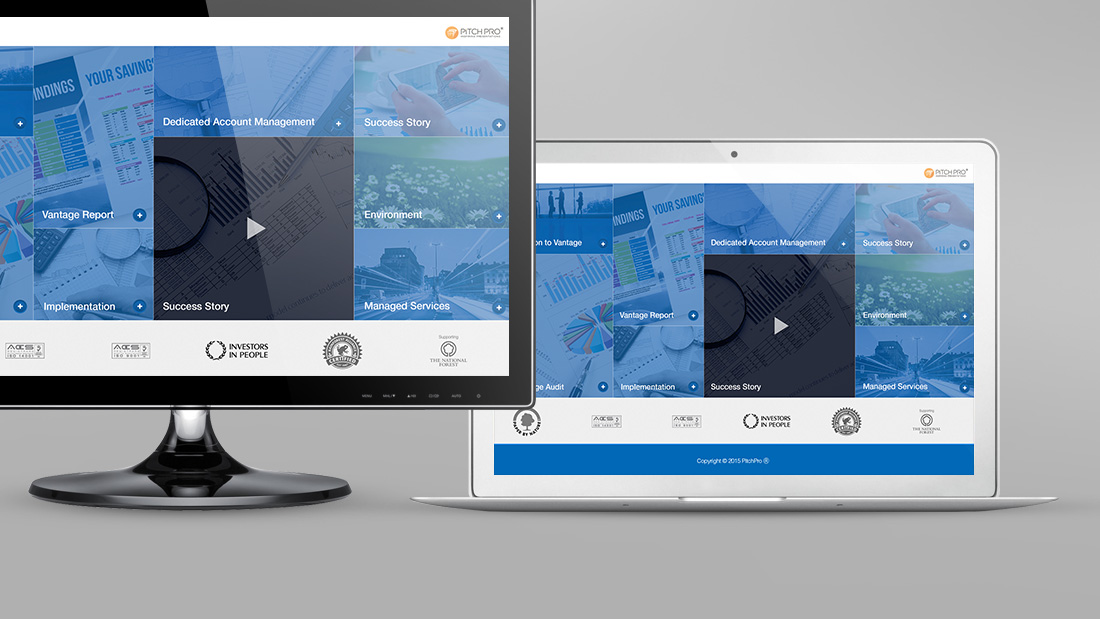 Interactive presentation design for managed services company