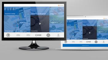 Business presentation design example