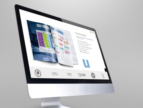 Interactive brochure design for managed services company